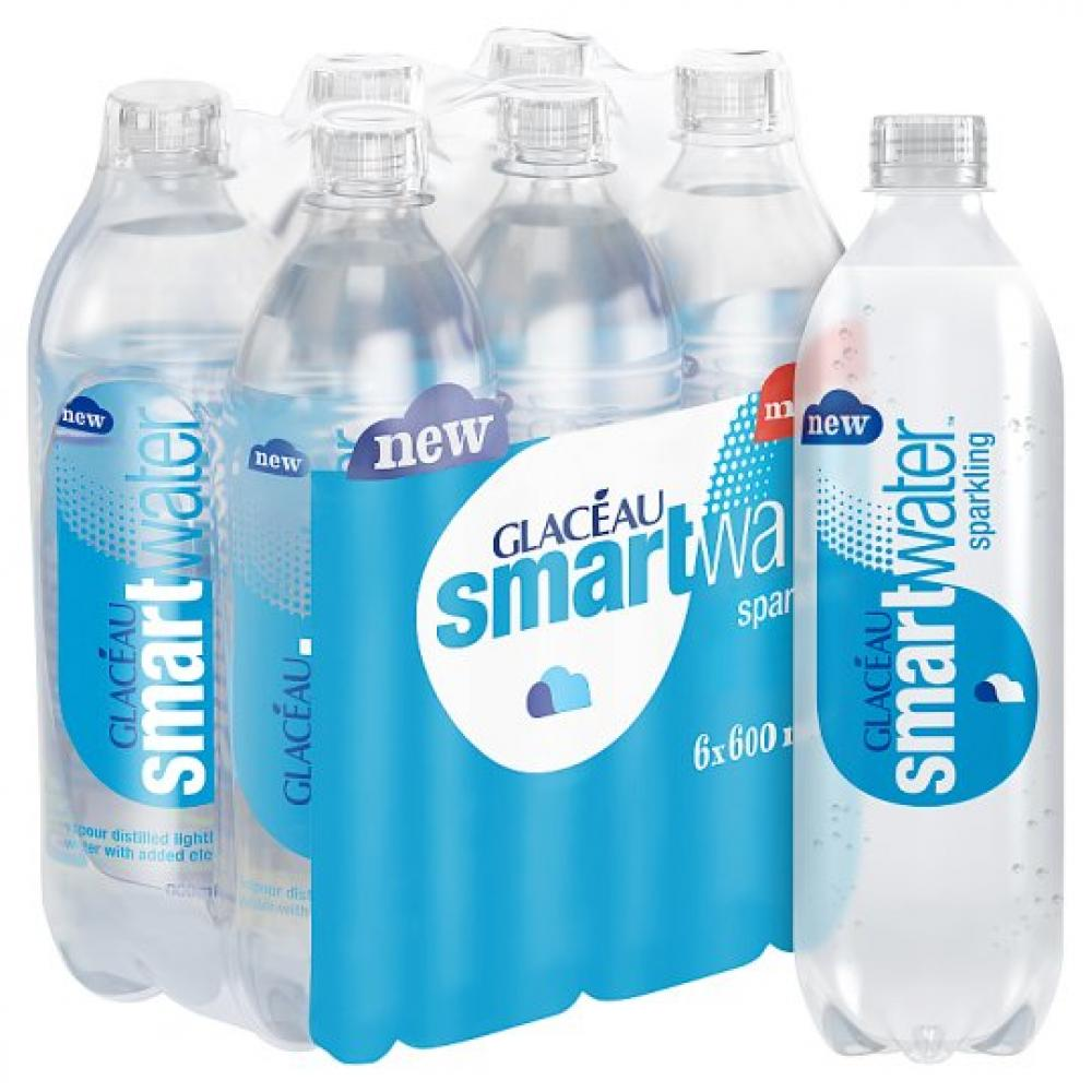 CASE PRICE  Glaceau Sparkling Smart Water 600ml x 6