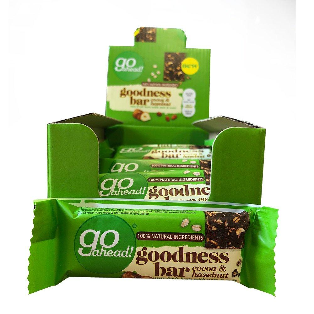 CASE PRICE  Go Ahead Goodness Bar Cocoa and Hazelnut 16 x 30g
