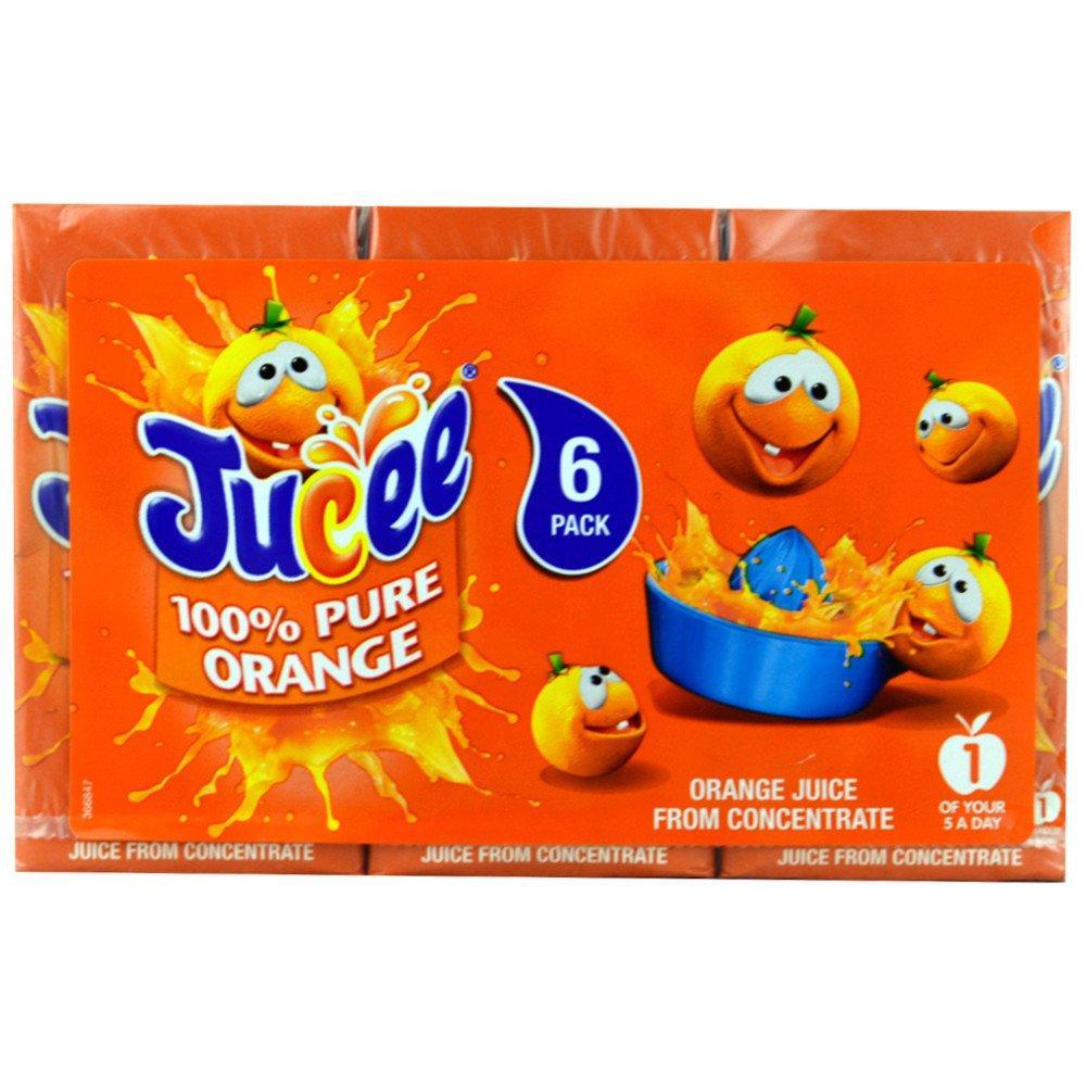 Jucee 100 Pure Orange Juice 200ml x 6