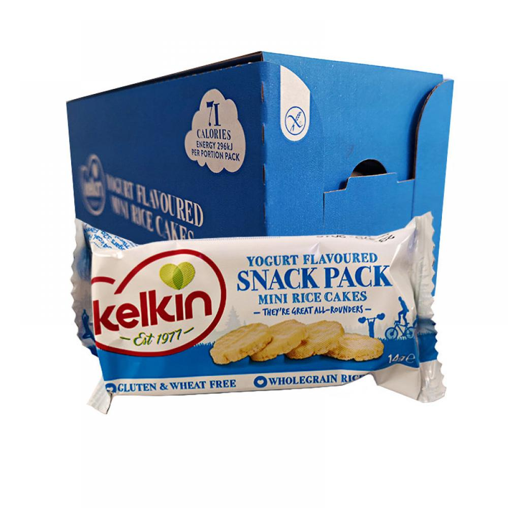 CASE PRICE  Kelkin Yogurt Flavoured Mini Rice Cakes 20 x 14g