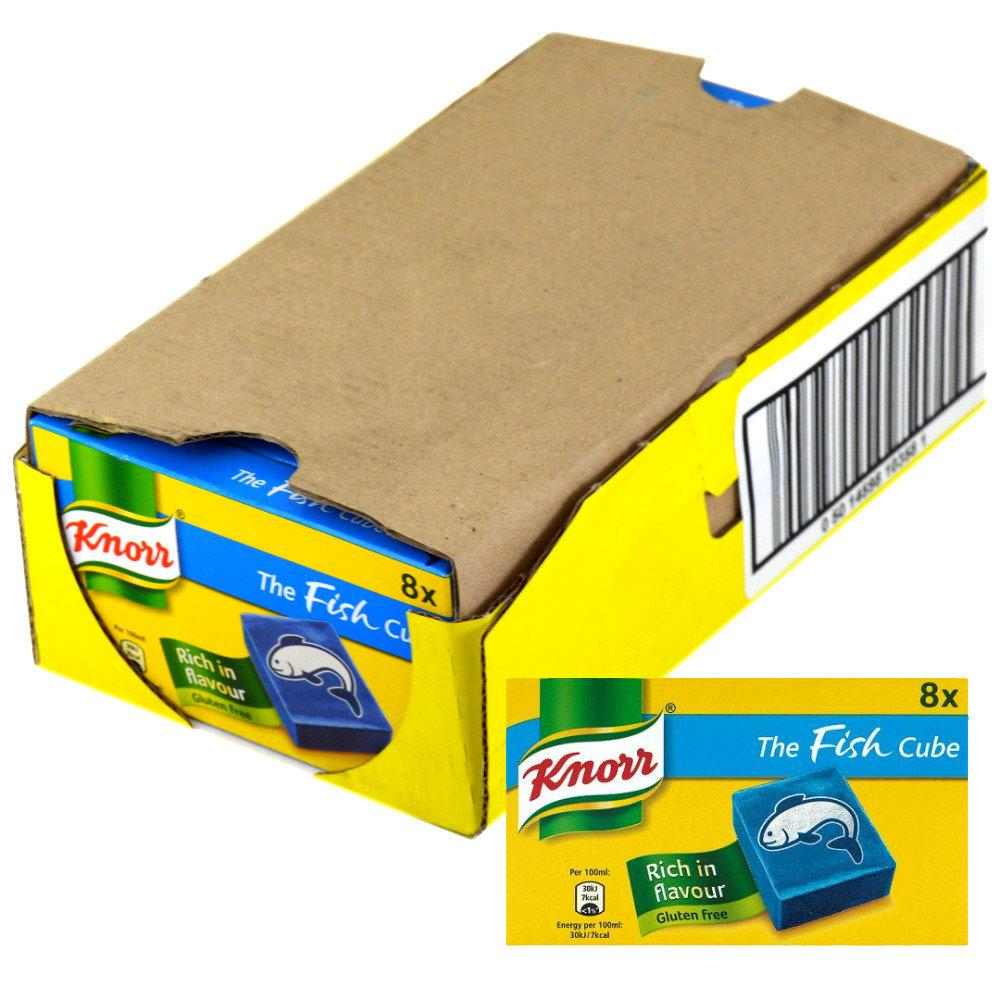 CASE PRICE  Knorr 8 Fish Stock Cubes 80g x 12