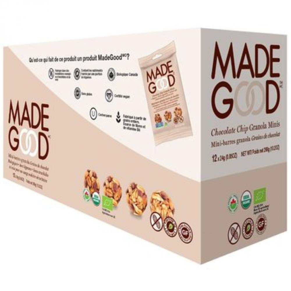 CASE PRICE  Made Good Chocolate Chip Granola Minis 24g x 12