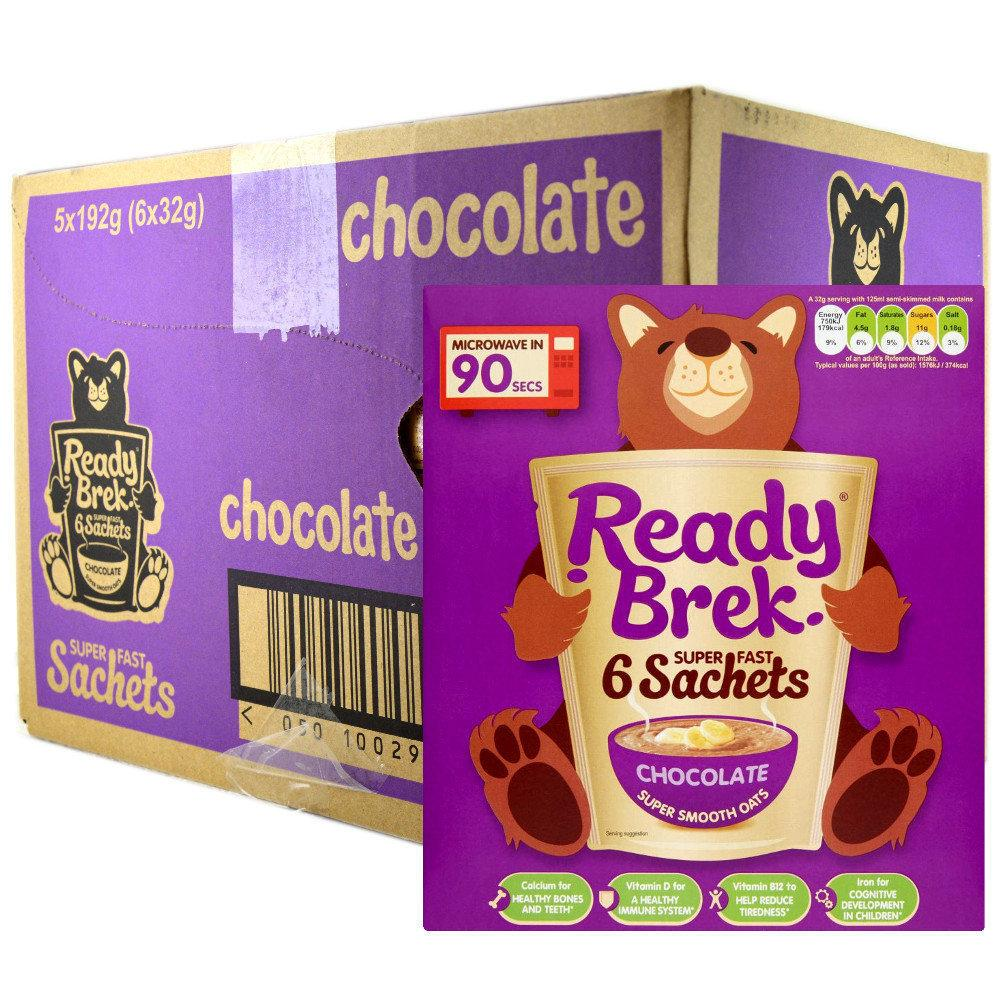 CASE PRICE  Ready Brek Porridge Oats Chocolate 32g x 6 x 5
