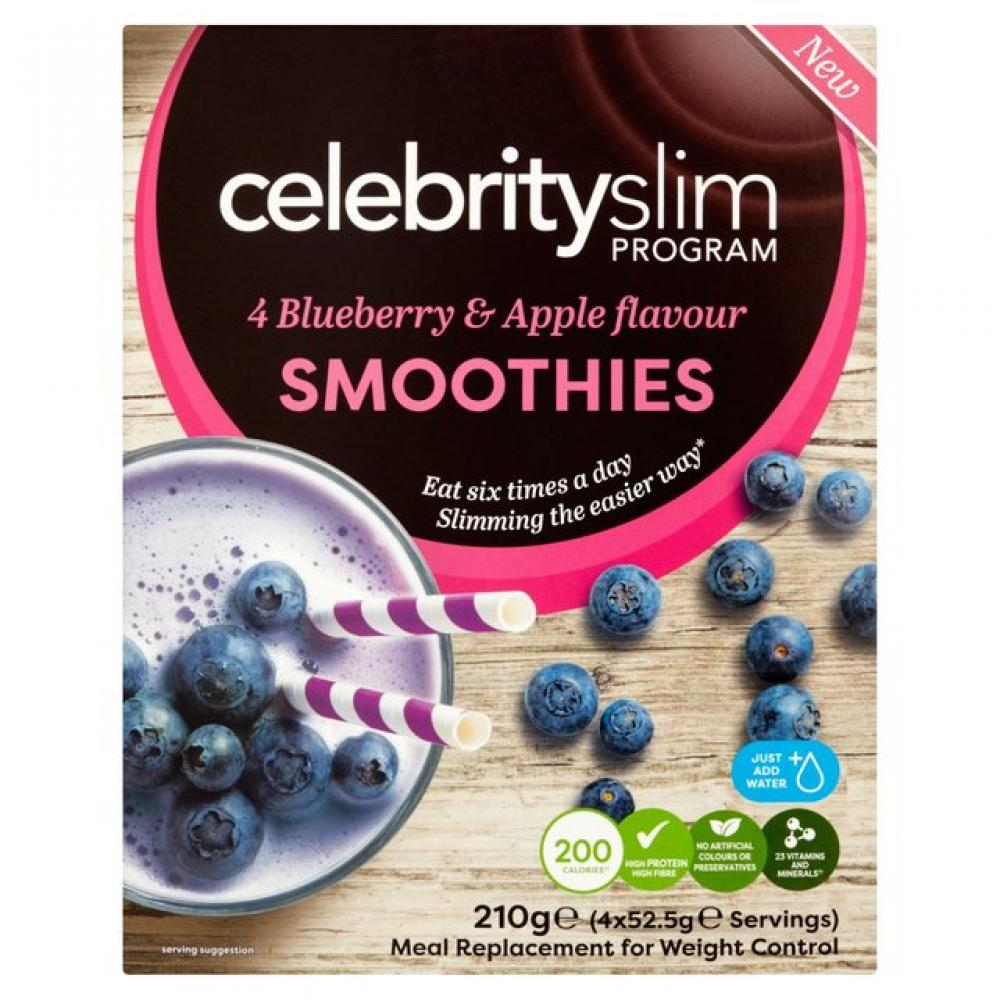 Celebrity Slim Blueberry and Apple Smoothies 4 sachets
