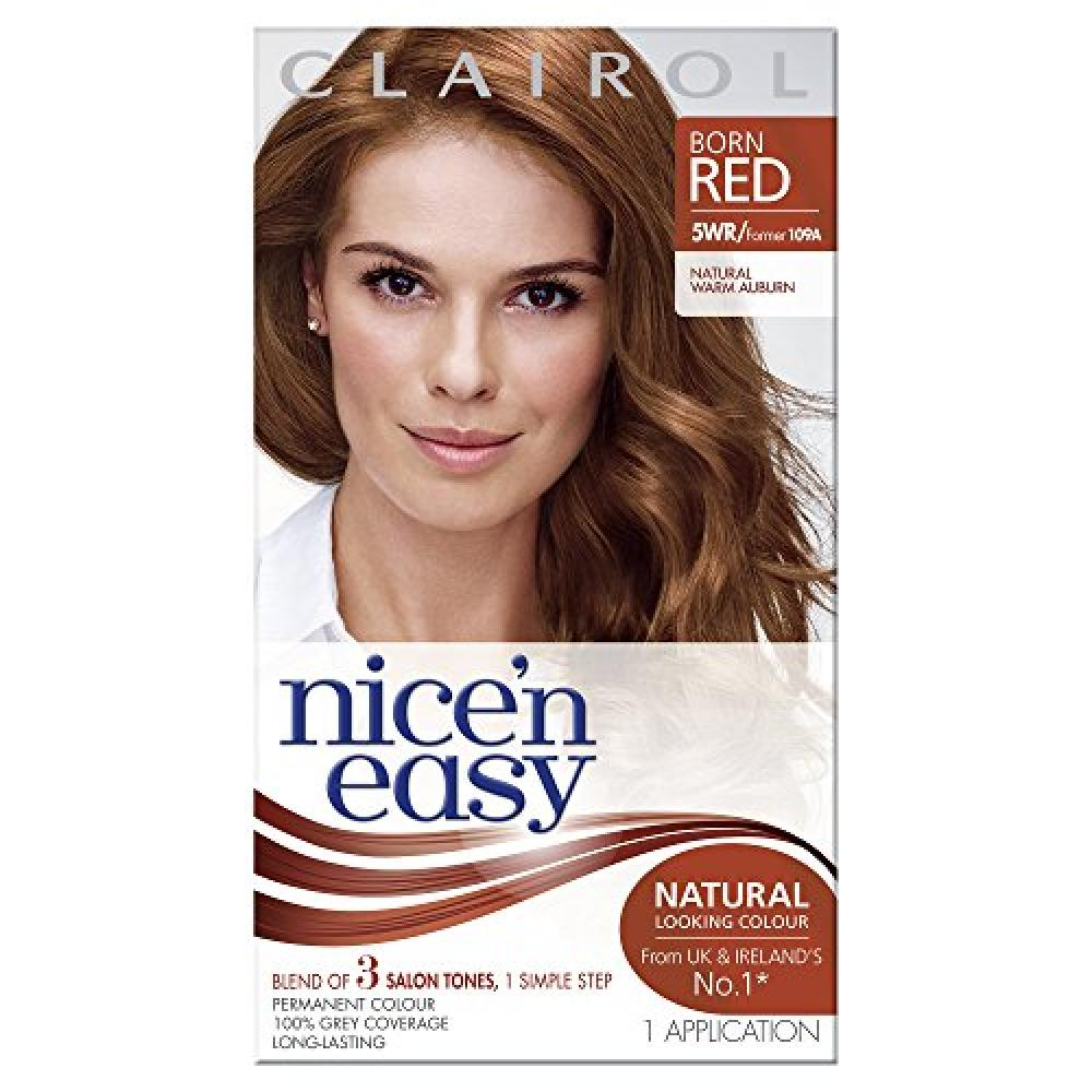Clairol Nice and Easy 109A Natural Warm Auburn Permanent Hair Colour