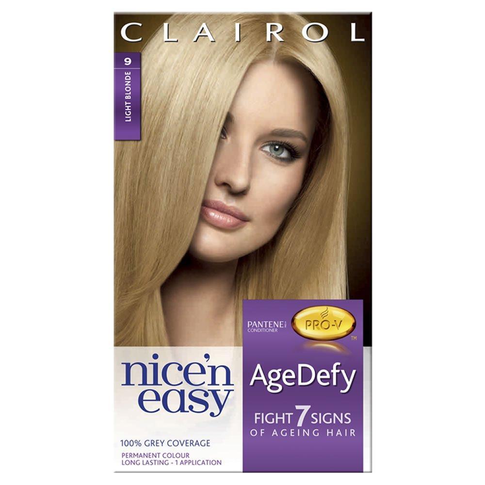 Clairol Nice n Easy AgeDefy Permanent Hair Dye Light Blonde 9
