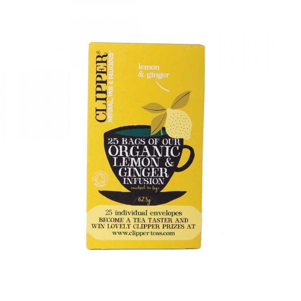 Clipper Organic Lemon and Ginger Tea 25 bags