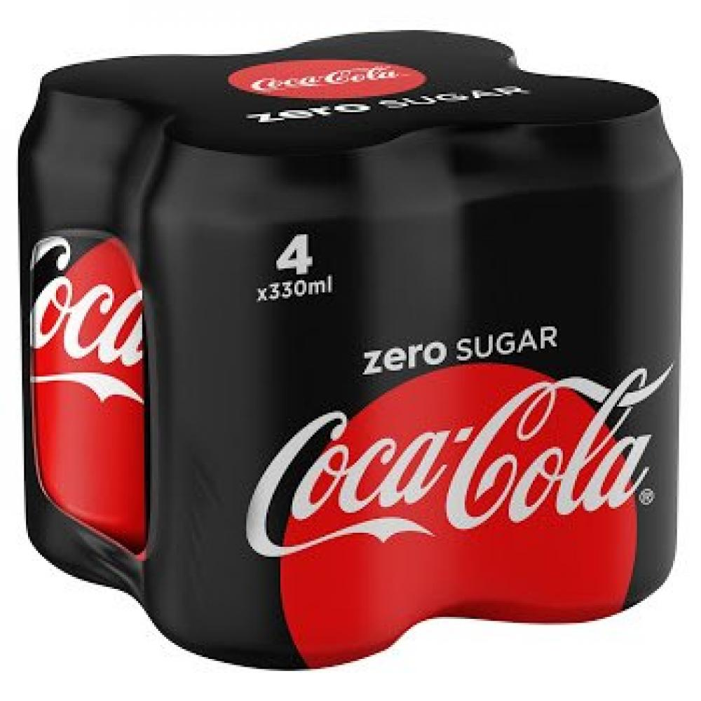 Coca Cola Zero 330ml x 4