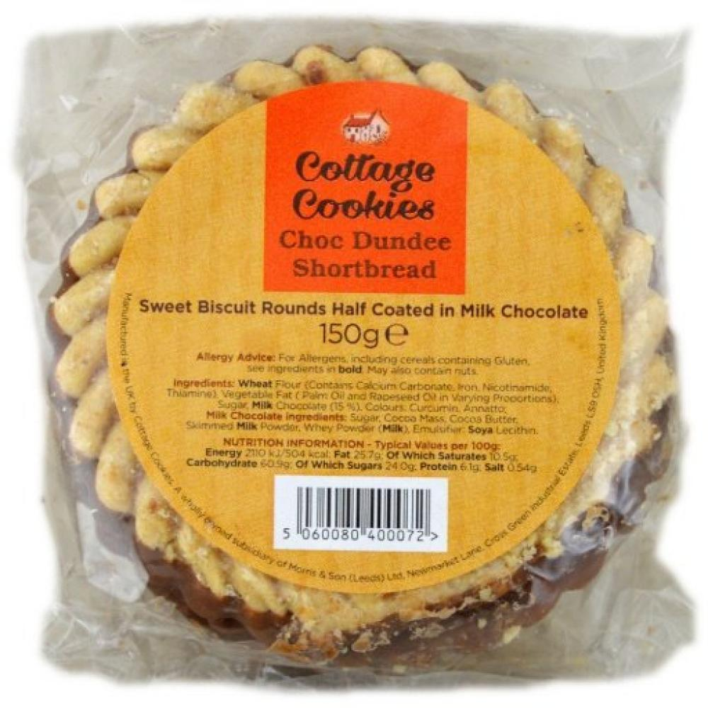 Cottage Cookies Chocolate Dundee Shortbread 150g