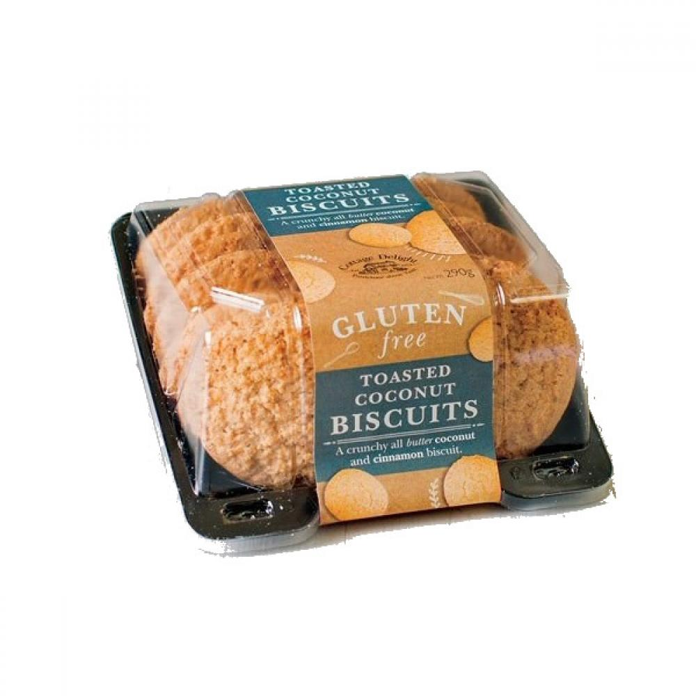 Cottage Delight Gluten Free Toasted Coconut Biscuits 290g