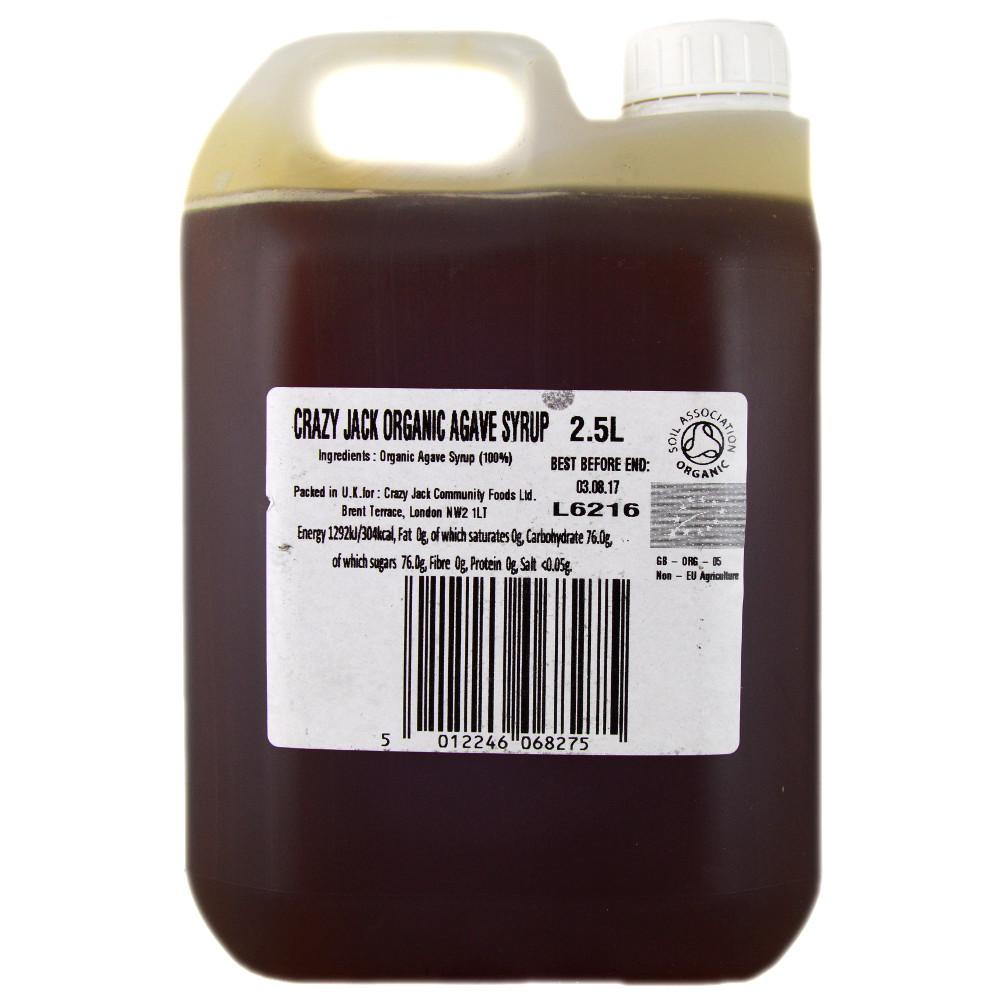 Crazy Jack Organic Agarve Syrup 2.5l