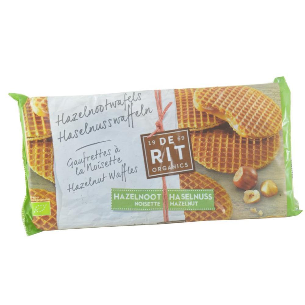 De Rit Organics Hazelnut Waffles 175g