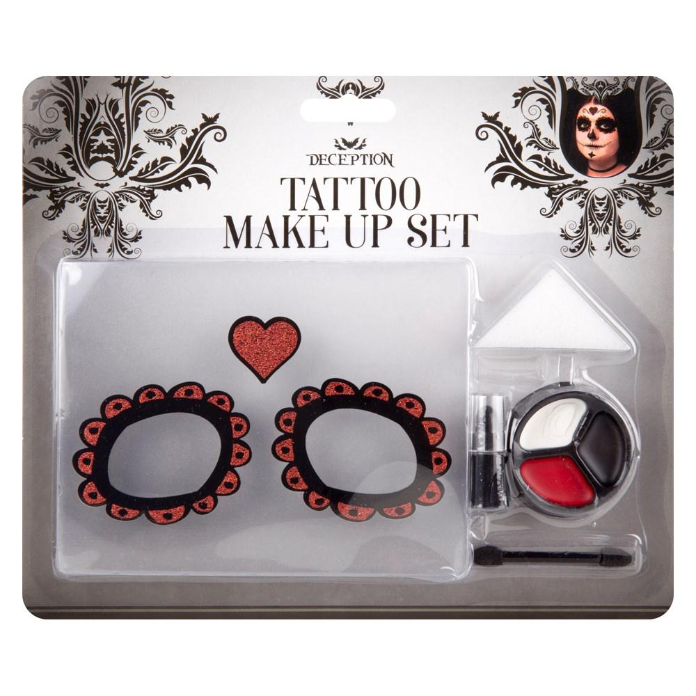 Deception Halloween Tattoo Make Up Set