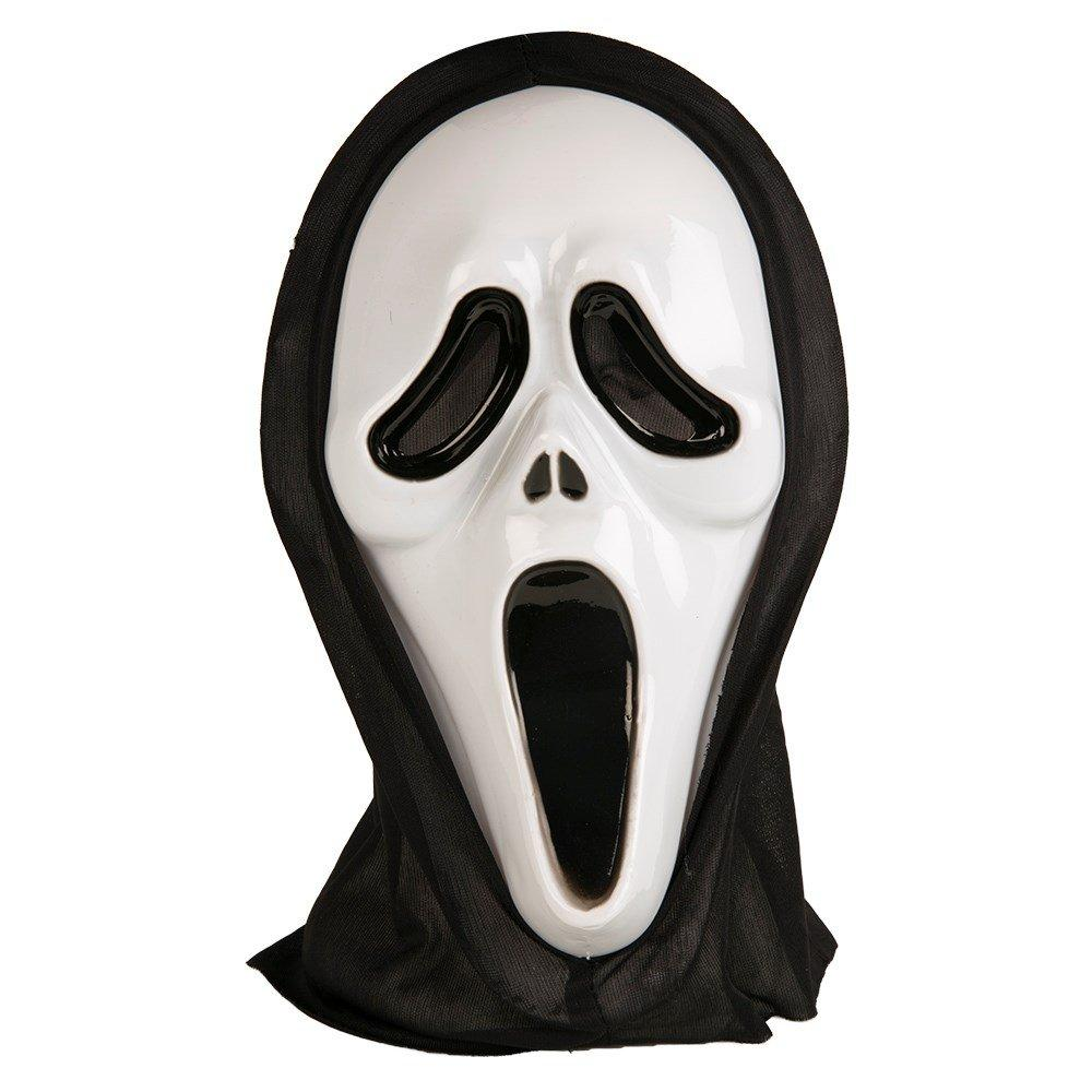 Deluxe Halloween Adults Hooded Scream Mask