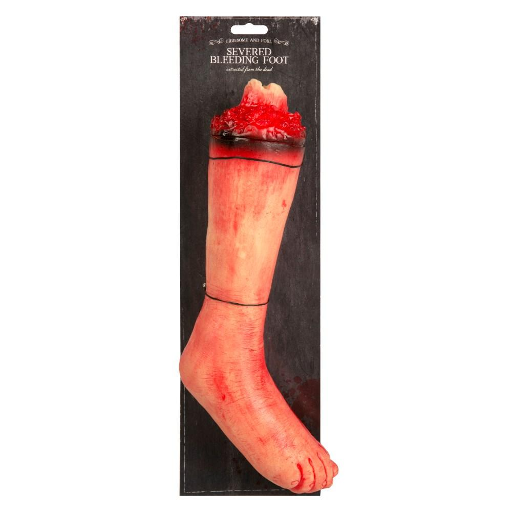 Deluxe Halloween Severed Bleeding Foot
