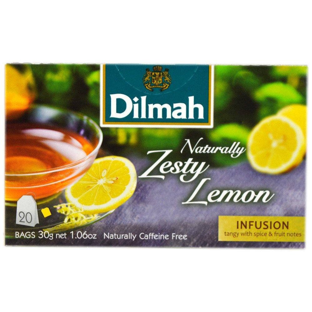 Dilmah Naturally Zesty Lemon 20 Tea Bags