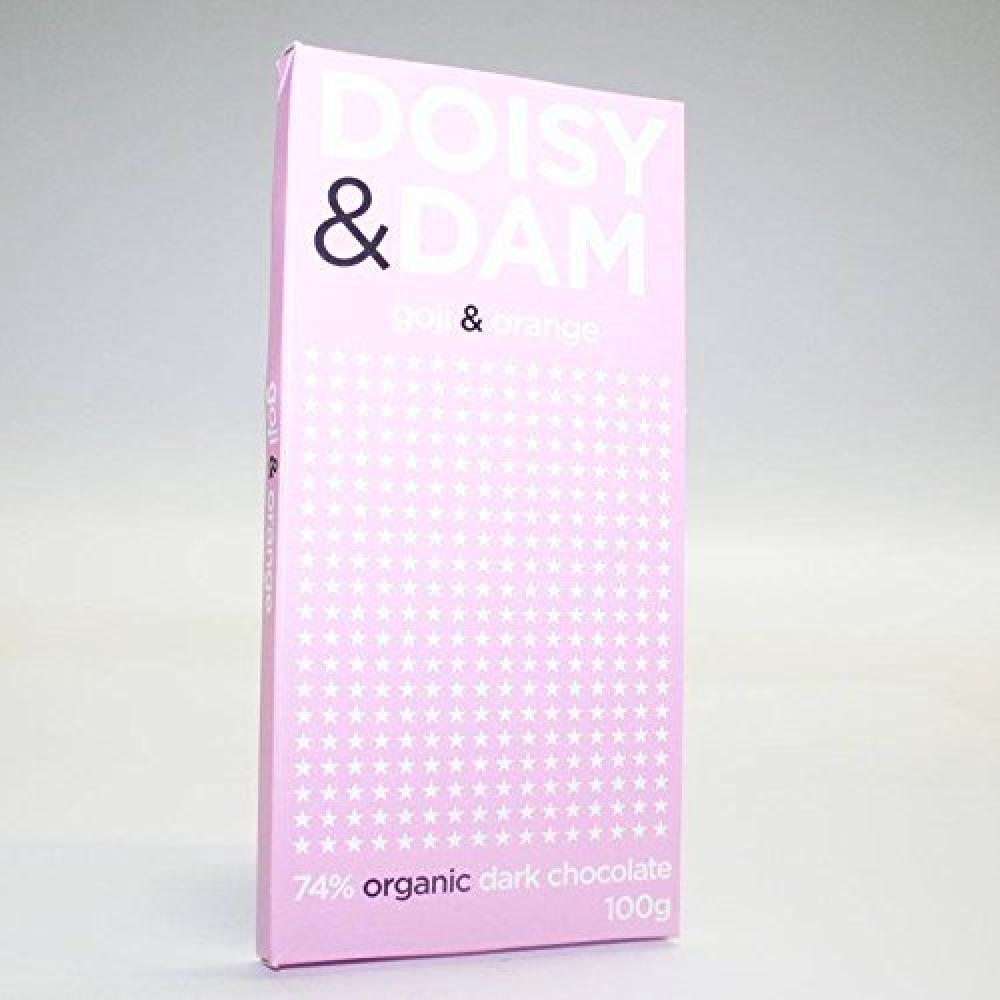 Doisy and Dam Goji and Orange Organic Dark Chocolate Bar 100g