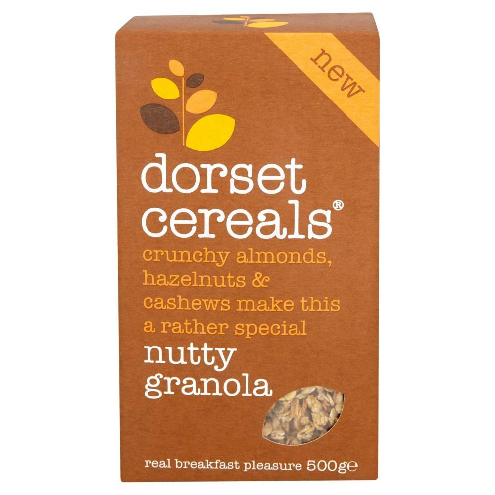 Dorset Cereals Crunchy Almonds Hazelnuts and Cashews Nutty Granola 500g