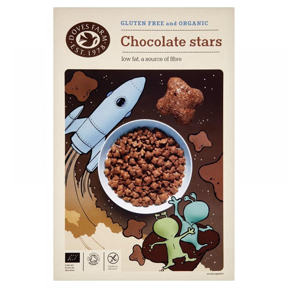 Doves Farm Organic Chocolate Stars 375g