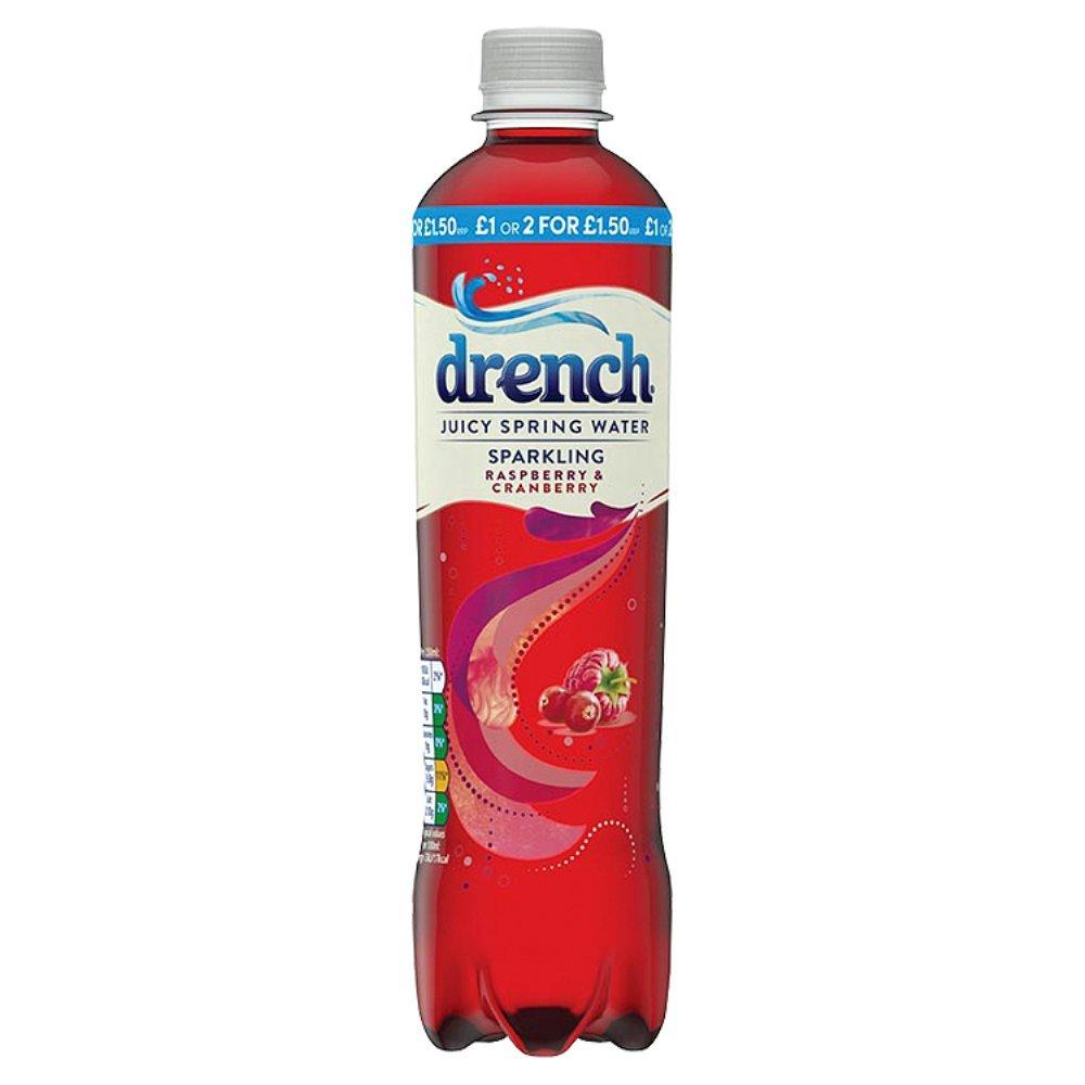 Drench Sparkling Raspberry and Cranberry 500ml