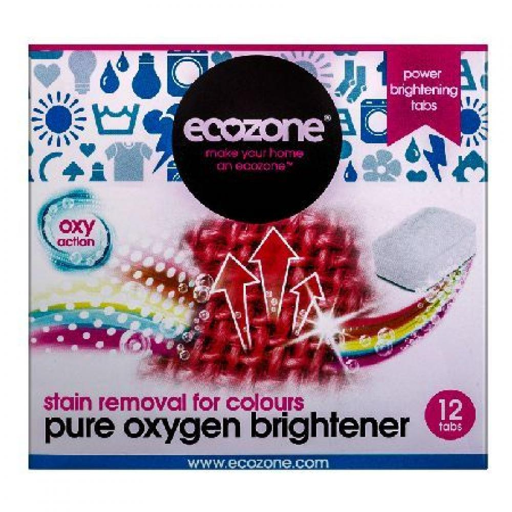Ecozone Pure Oxygen Stain Remover for Colours 12 Tablets