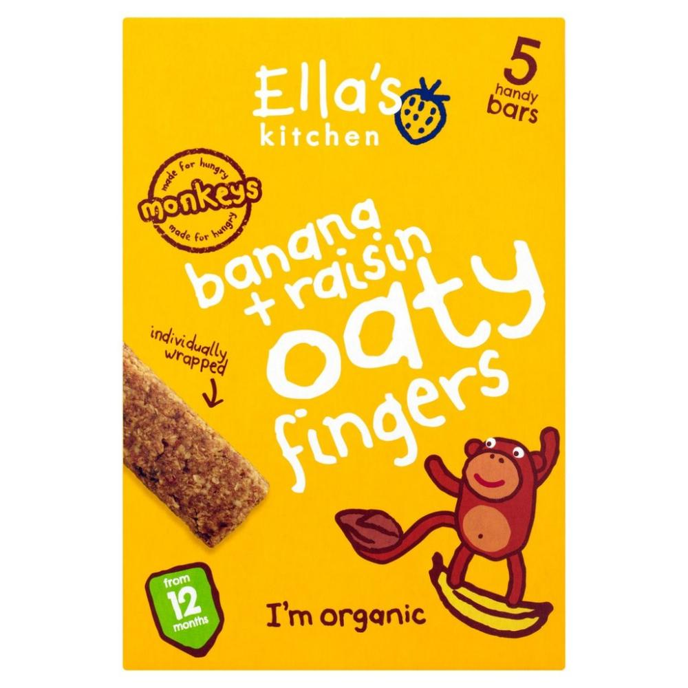 Ellas Kitchen Bananas and Raisins Oaty Nibbly Fingers 5 x 25g