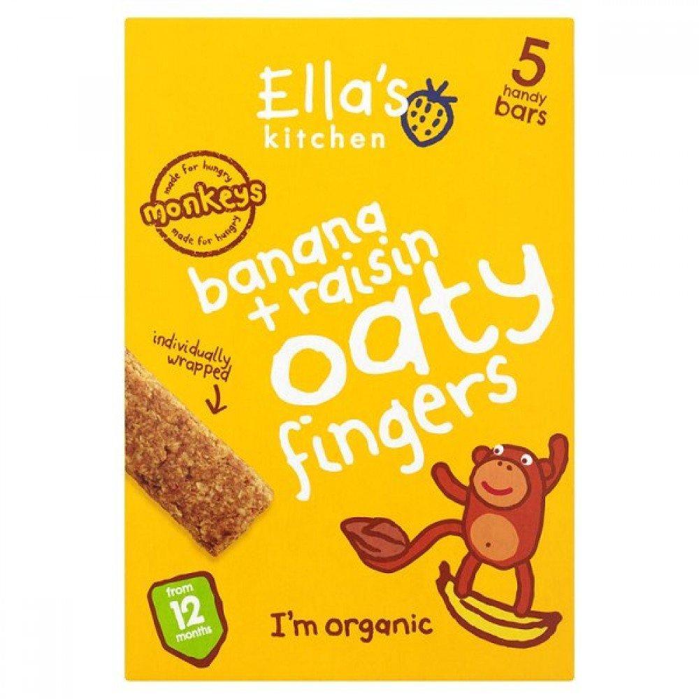 Ellas Kitchen Organic Bananas and Raisins Oaty Fingers 25g x 5