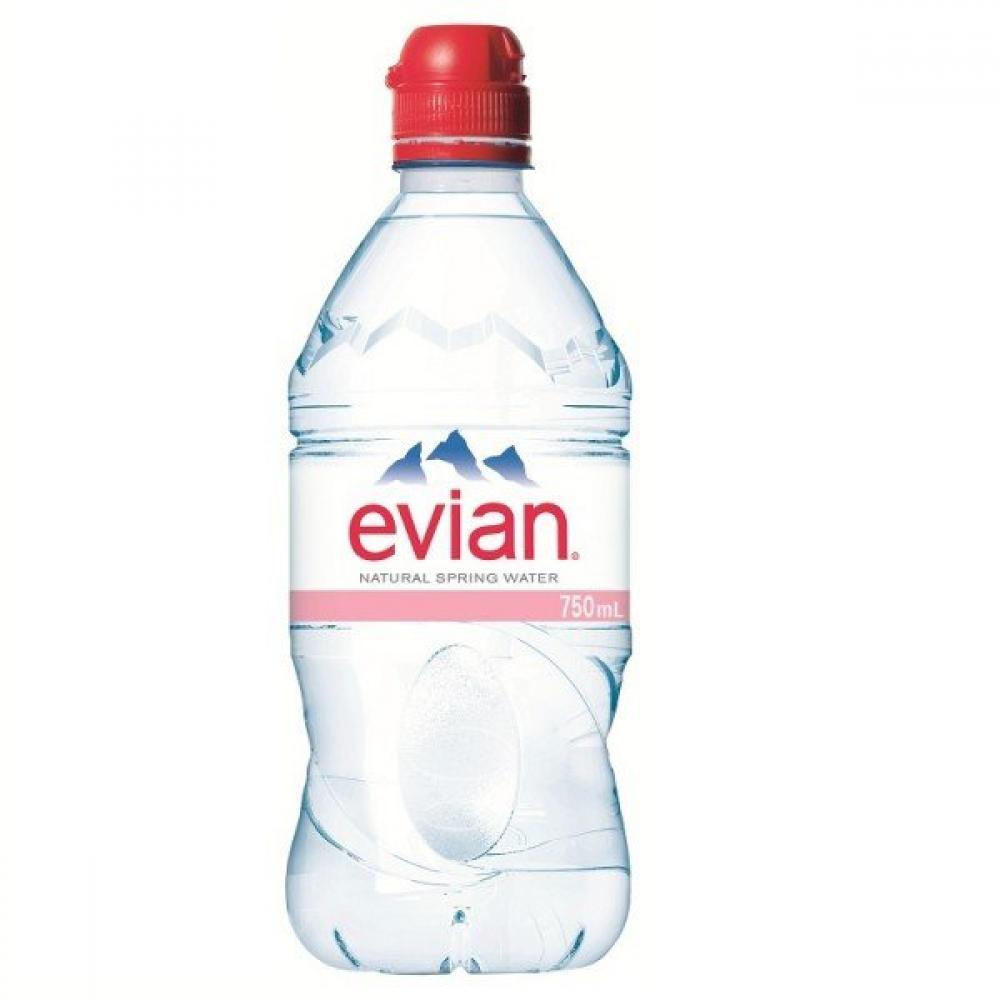 Evian Natural Mineral Water - Sportcap 750ml