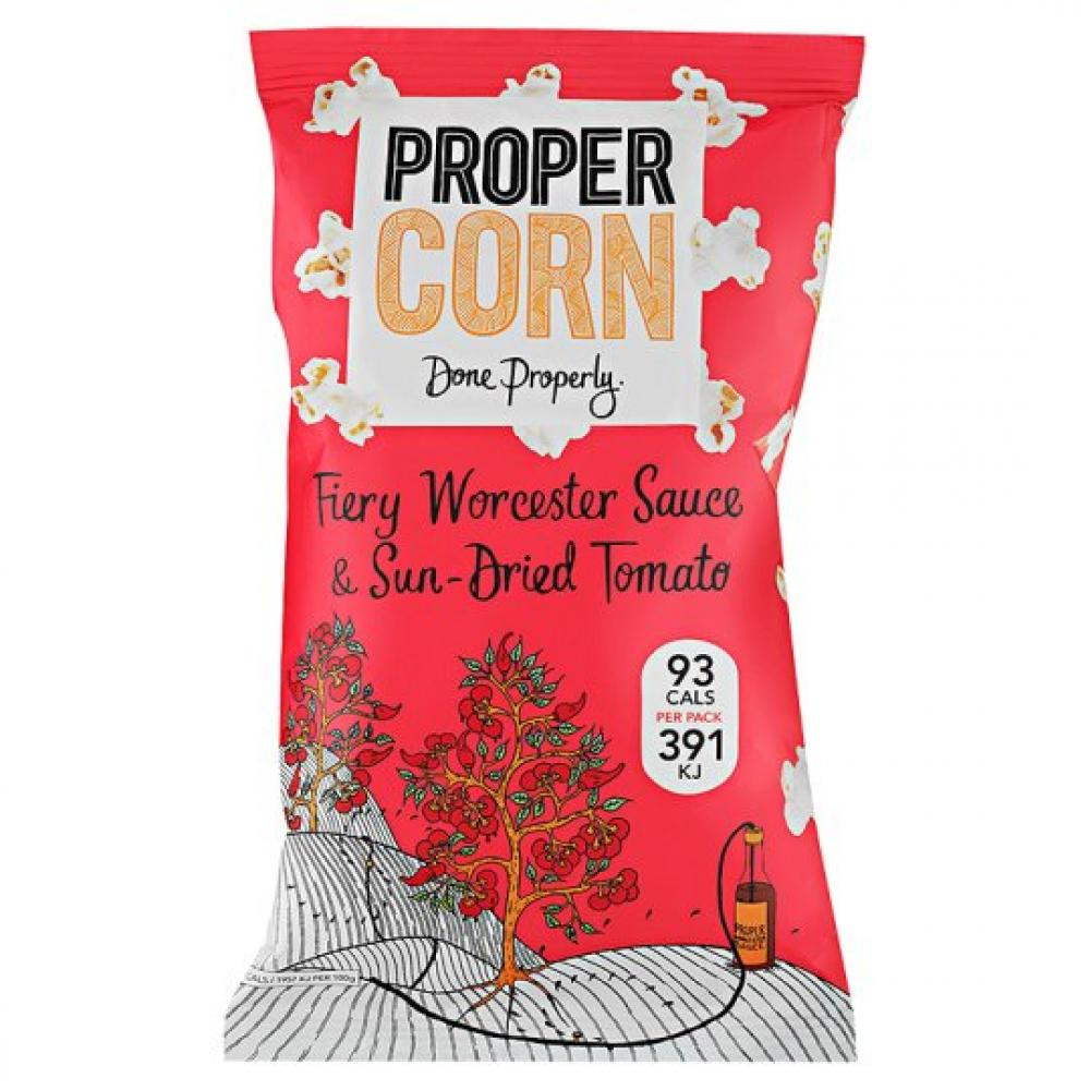 Propercorn Fiery Worcester Sauce and Sun Dried Tomato Popcorn 20g