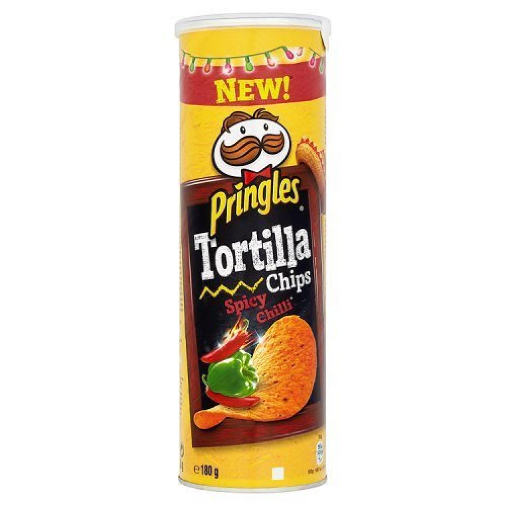 Pringles Tortilla Chips Spicy Chilli 180g