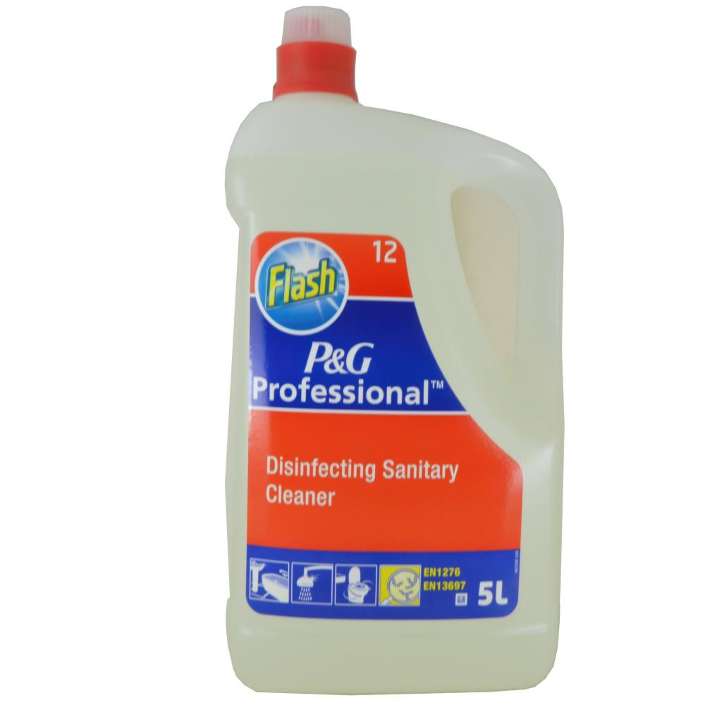 Flash P And G Professional Disinfecting Sanitary Cleaner 5 Litre