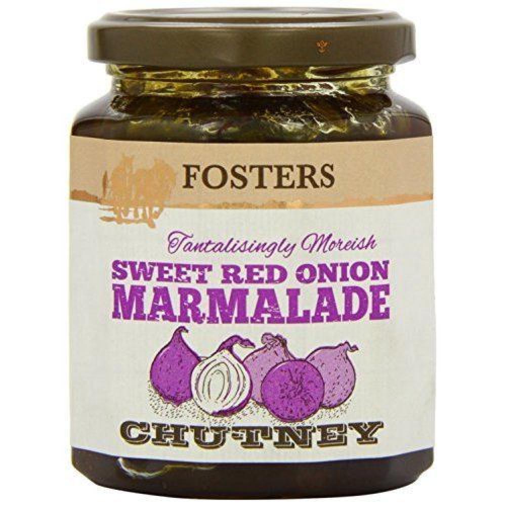 Fosters Sweet Red Onion Marmalade Chutney 340g