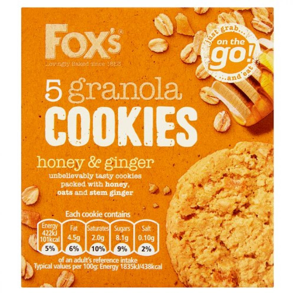 Foxs Granola Honey Cookies 110g
