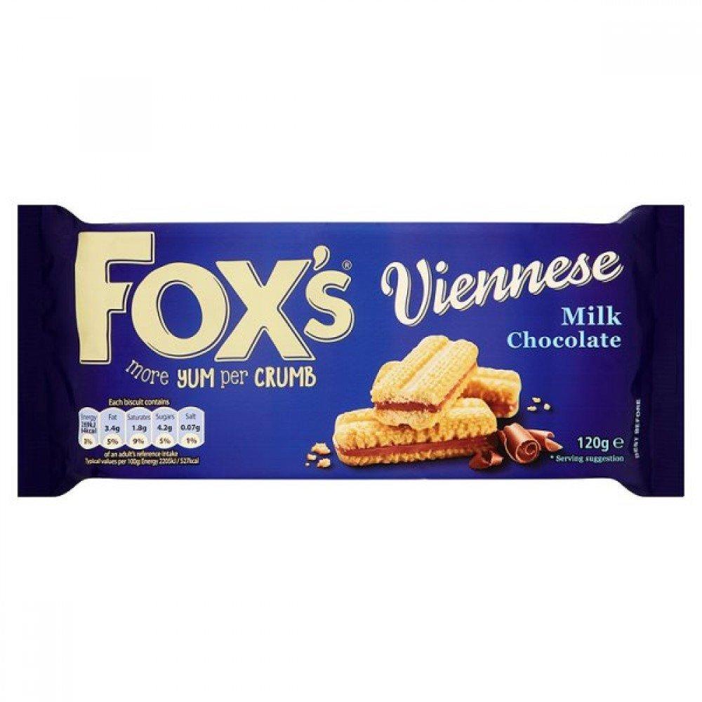 Foxs Viennese Milk Chocolate Biscuits 120g