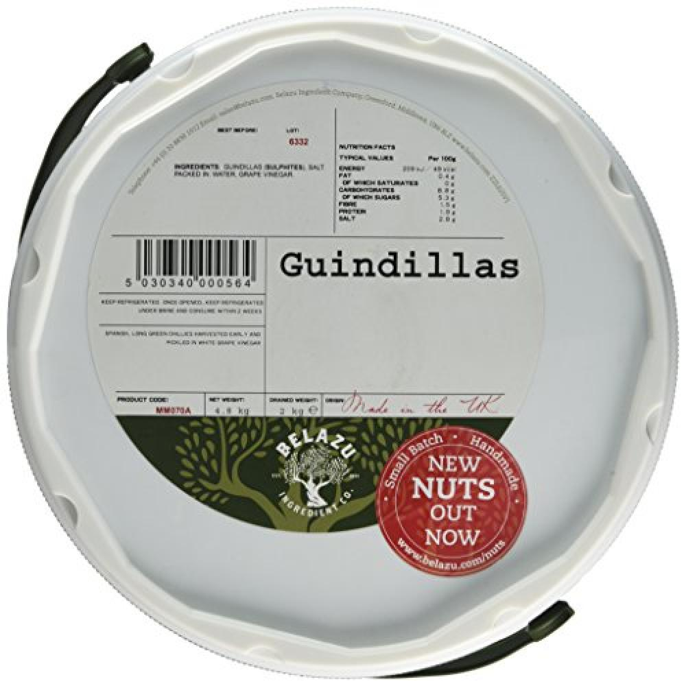 Fresh Olive Whole Green Guindillas Chilli Peppers 2kg