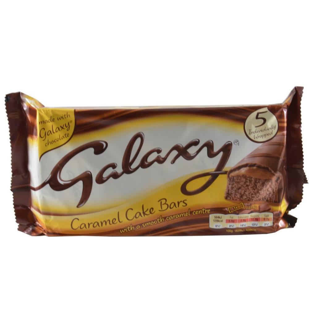 Galaxy Caramel Cake Bars 5 Pack
