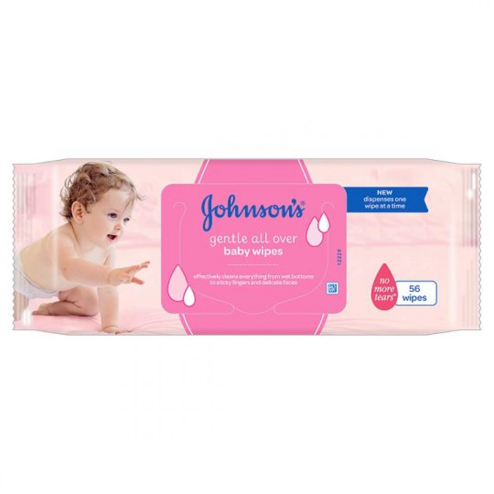 Johnsons Gentle All Over Baby Wipes 56