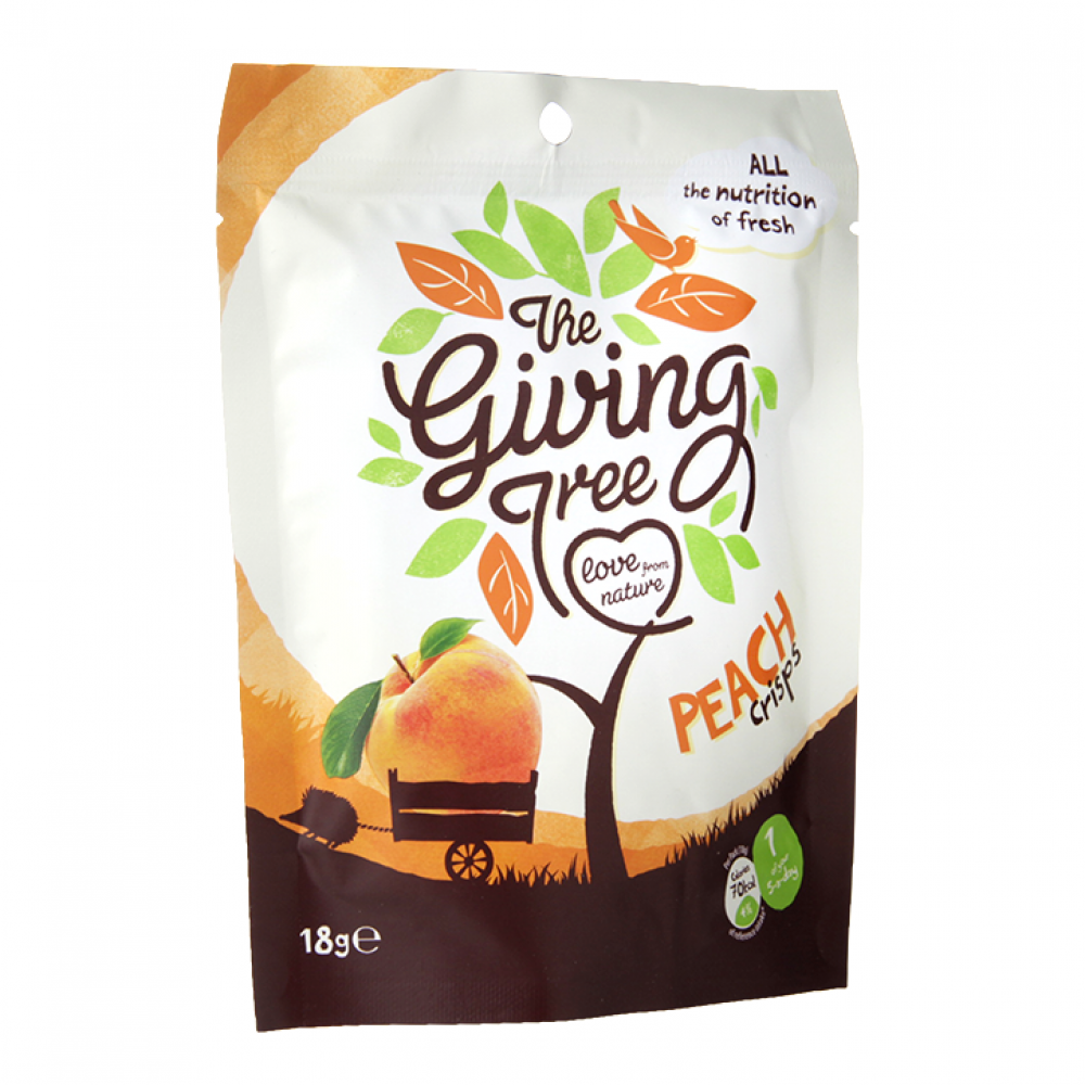 Giving Tree Peach Crisps 18g