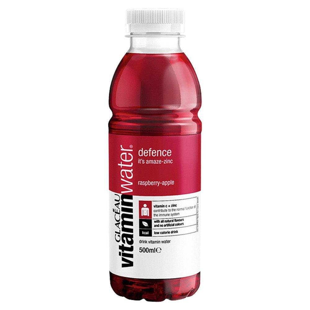 Glaceau Vitamin Water Defence Raspberry and Apple Drink 500ml
