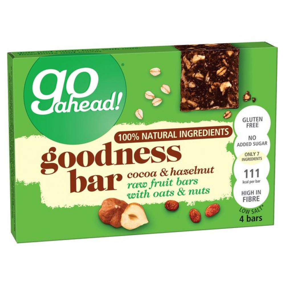 Go Ahead Goodness Bar Cocoa and Hazelnut 30g x 4