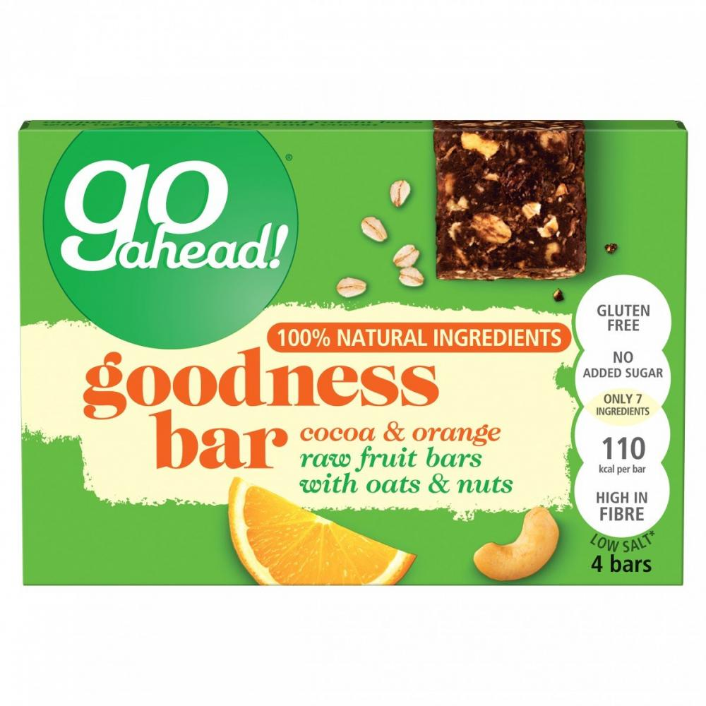 Go Ahead Goodness Bar With Cocoa And Orange 30g x 4