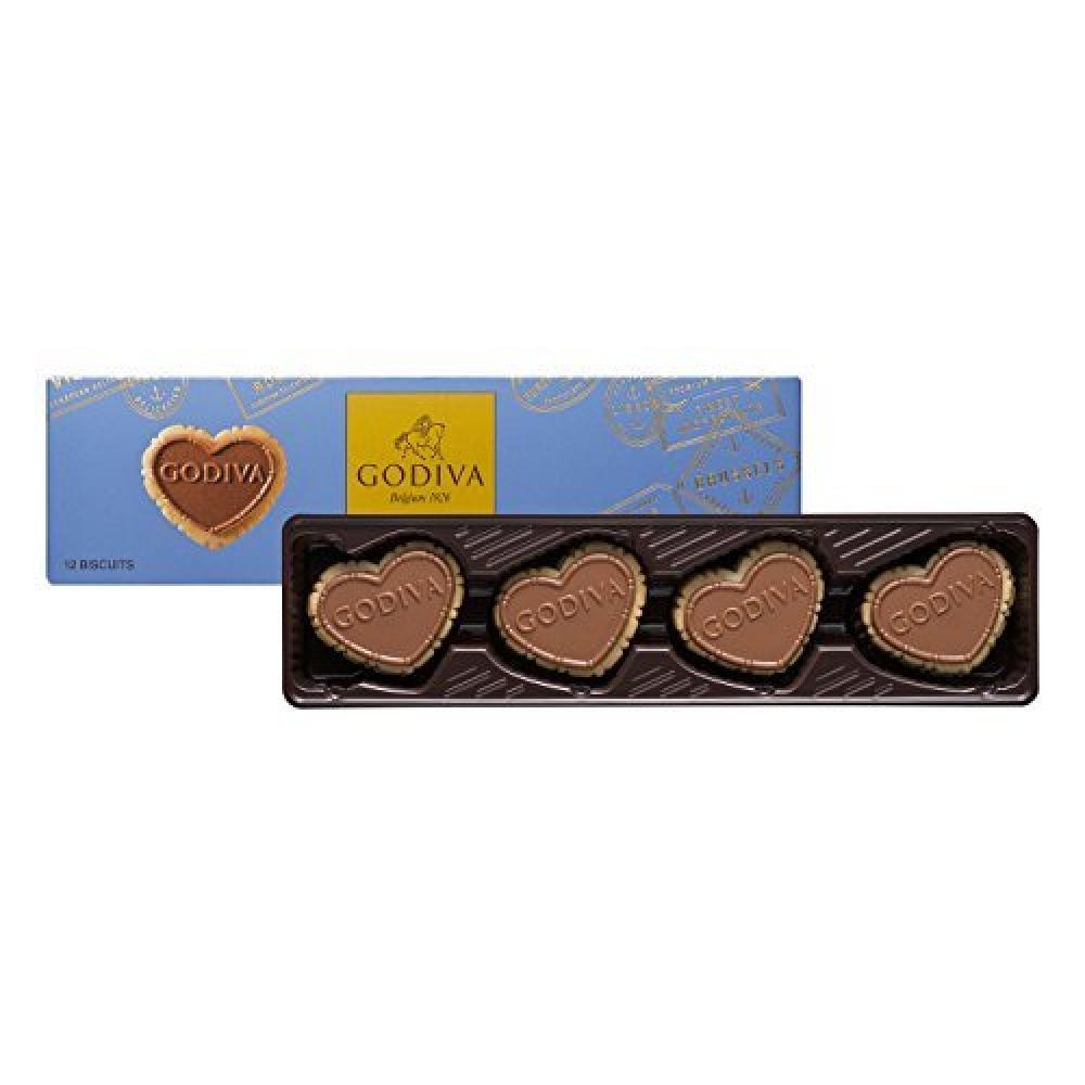 Godiva Strawberry Milk Chocolate Biscuits 100g