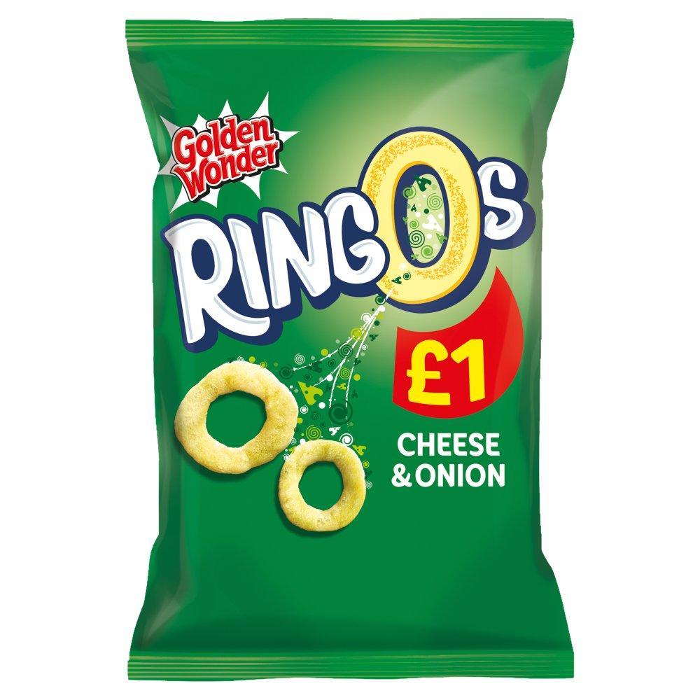 Golden Wonder Ringos Cheese and Onion 70g