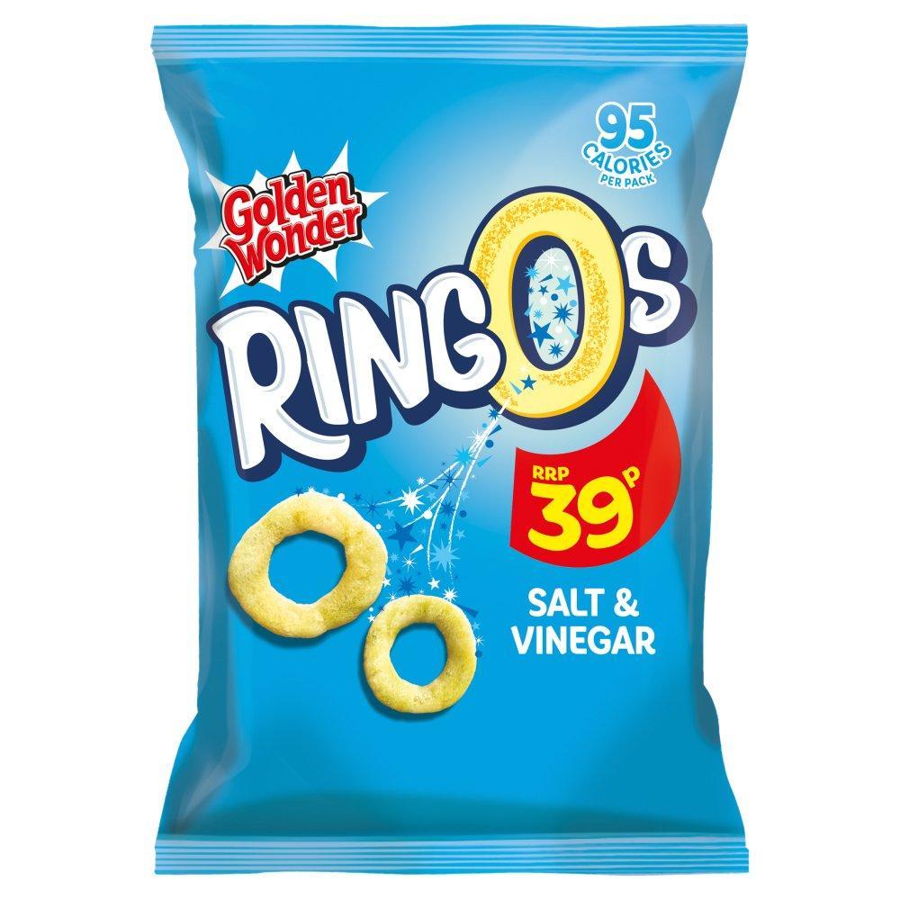 Golden Wonder Ringos Salt and Vinegar Flavour 20g
