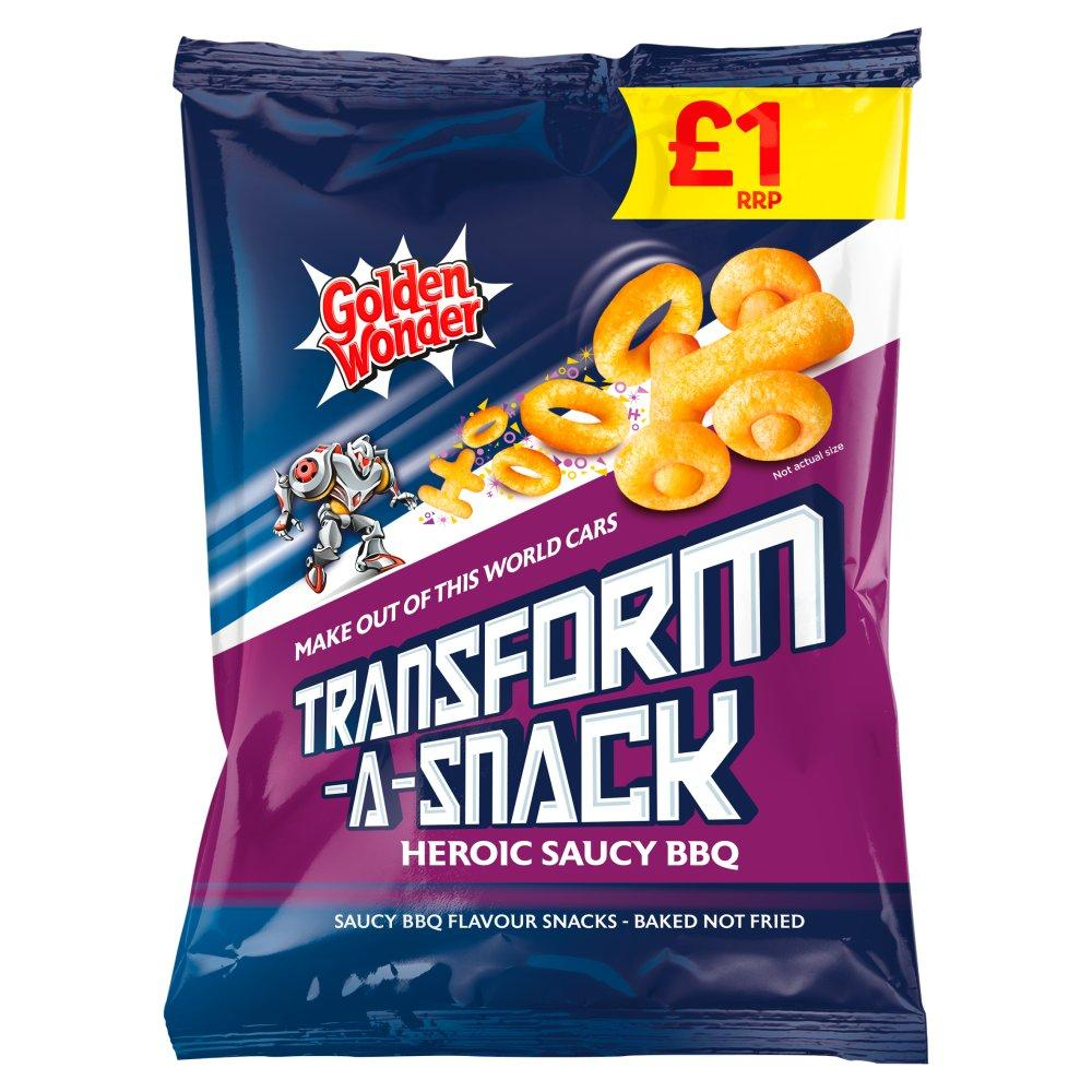 Golden Wonder Transform A Snack Heroic Saucy BBQ 90g