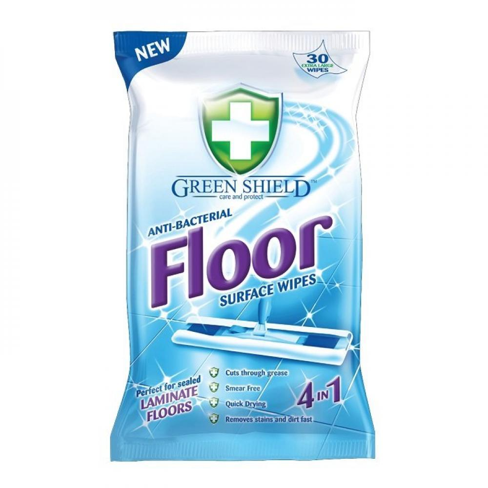 Green Shield Anti-Bacterial Floor Wipes 30 wipes