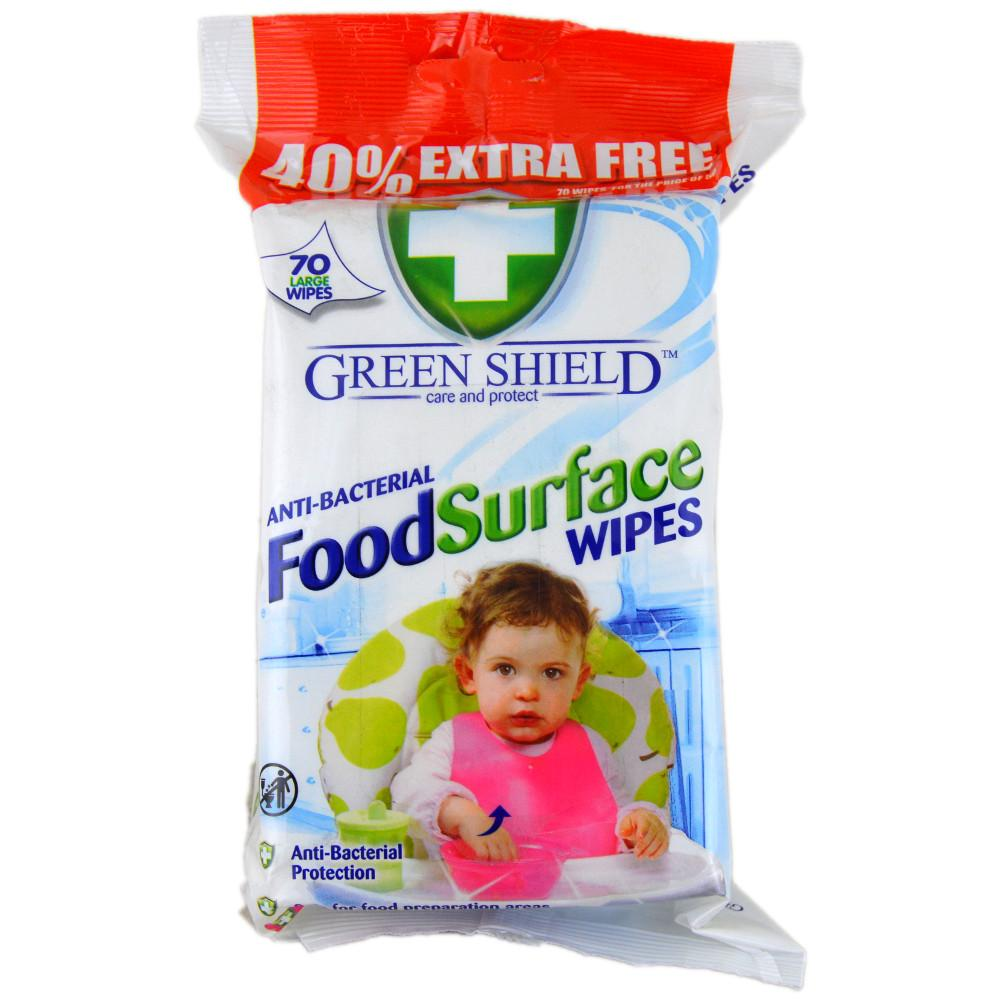 Green Shield Anti-Bacterial Food Surface Wipes 70 wipes