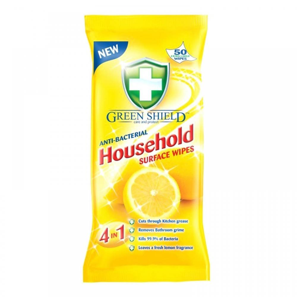 Green Shield Anti-Bacterial Household Surface Wipes 50 wipes