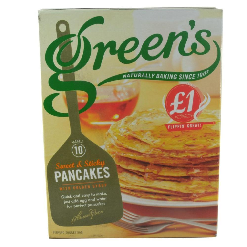 Greens Sweet and Sticky Pancakes 305g