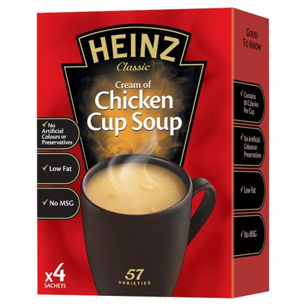 Heinz Cream Of Chicken Cup Soup 68g 4 sachets